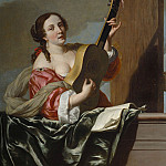 часть 3 -- European art Европейская живопись - JOHANNES VAN BRONCHORST A Lady playing a Guitar on a Balcony 28190 172