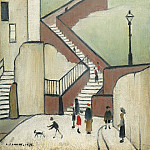 часть 3 -- European art Европейская живопись - Laurence Stephen Lowry The Steps 40268 20