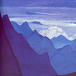 Himalayas # 97 Lilac twilight in the mountains, Roerich N.K. (Part 4)