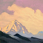 The Himalayas # 90 The summit at dawn, Roerich N.K. (Part 4)