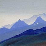 Himalayas # 86 A series of hot blue, Roerich N.K. (Part 4)