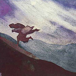 Roerich N.K. (Part 4) - Storm (sketch for the painting) # 158 ( storm. sketch)
