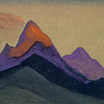 Roerich N.K. (Part 4) - Evening # 147 (Rocky peaks at sunset)
