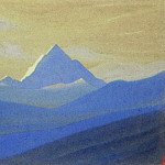 Himalayas # 99 Lonely peak at dawn, Roerich N.K. (Part 4)
