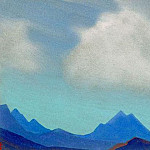 Himalayas # 80 Cloud over mountains, Roerich N.K. (Part 4)