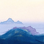 Himalayas # 123 Fog hiding the mountain areas, Roerich N.K. (Part 4)