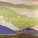 Roerich N.K. (Part 5) - Hunt # 63 Hunting (ridge at sunset) ( sketch for the painting