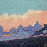 Roerich N.K. (Part 4) - Himalayas # 152 Clouds above a mountain ridge