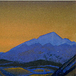 Roerich N.K. (Part 5) - Path to KAILAS # 127 (blue rock after sunset )