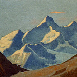 Roerich N.K. (Part 4) - Nanda Devi # 122 Nanda Devi (Sierra at sunset)