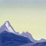 The Himalayas # 190 The morning sky above the mountains, Roerich N.K. (Part 4)