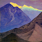 Roerich N.K. (Part 4) - Tibet # 30 Tibet (dark peaks. Evening)