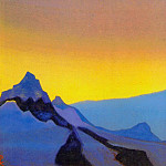 Roerich N.K. (Part 4) - Himalayas. Evening # 157 (Evening mountains)