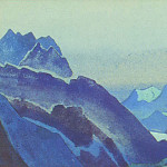 The Himalayas # 236 Gorge in the moonlight, Roerich N.K. (Part 4)