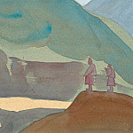 Chandra River. Sketch # 67, Roerich N.K. (Part 4)