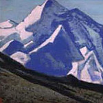 The Himalayas # 74 Peaks on the turquoise sky, Roerich N.K. (Part 4)
