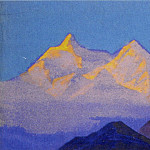 The Himalayas # 17 The mossy mountains, Roerich N.K. (Part 4)