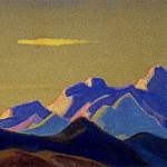 The Himalayas # 39 The Golden Cloud, Roerich N.K. (Part 4)