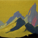Roerich N.K. (Part 4) - Himalayas # 41 Sharp peaks against the golden sky