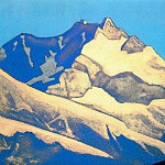 Roerich N.K. (Part 4) - Vertex Kanchenjunga # 11 Top of Kinchenjunga (Snow tops on turquoise sky)