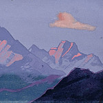 The Himalayas # 170 Fiery snow tops, Roerich N.K. (Part 4)