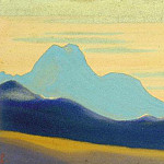 The Himalayas # 159 The Blue Silhouette, Roerich N.K. (Part 4)