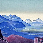 Mountain lake, Roerich N.K. (Part 4)