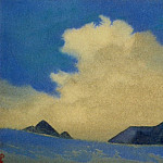 Himalayas # 84 Cloud over ledges, Roerich N.K. (Part 4)