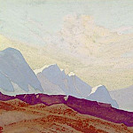 The Himalayas # 173 The lilac slope of the snows, Roerich N.K. (Part 4)