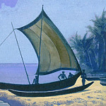 Roerich N.K. (Part 4) - Ceylon (sailing boat on the sand)