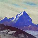 The Himalayas # 202 The Blue Cliff, Roerich N.K. (Part 4)
