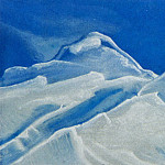 Himalayas # 85 Snowy peaks against the blue sky, Roerich N.K. (Part 4)