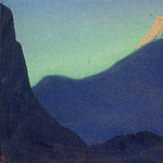The Himalayas # 112 The mountain topped at dawn, Roerich N.K. (Part 4)