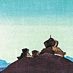 Roerich N.K. (Part 4) - Guards desert (Stepping on a hill) (sketch) # 49