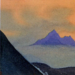 The Himalayas # 113 The blue peaks in the fog, Roerich N.K. (Part 4)