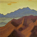 Roerich N.K. (Part 4) - Sandahpu # 51 Sandahpu (Orange clouds over purple rocks)