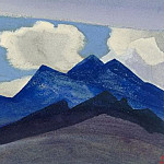 Roerich N.K. (Part 4) - Himalayas # 78 Dark blue peaks