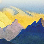 The Himalayas # 113 The color of the snow, Roerich N.K. (Part 4)
