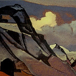 Roerich N.K. (Part 4) - Gloomy mountains in clouds # 46