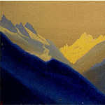 Himalayas # 63 Dawn in the Gorge, Roerich N.K. (Part 4)