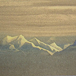 Roerich N.K. (Part 2) - Himalayas # 139 Mountains and sky in silver hats