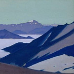 Fog in mountains . Himalayas # 24, Roerich N.K. (Part 4)