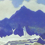 Himalayas # 104 Snow and blue rocks, Roerich N.K. (Part 4)