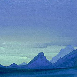 The Himalayas # 214 Evening Mountains, Roerich N.K. (Part 4)