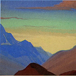 The Himalayas # 96 The divergent clouds, Roerich N.K. (Part 4)