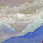 Himalayas # 69 green beam in the mountains, Roerich N.K. (Part 4)