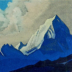 The Himalayas # 157 The crests of mountains and clouds, Roerich N.K. (Part 4)