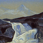 Roerich N.K. (Part 4) - Waterfall (Santana) # 141 (the Himalayas. Waterfall)