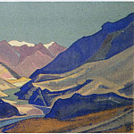 The Himalayas # 166 The river winding between the mountains, Roerich N.K. (Part 4)