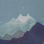 Moon mountain sketch) # 84 , Roerich N.K. (Part 4)
